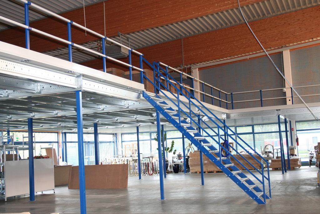 Trap 45° voor de tussenvloer en verdiepingsvloer